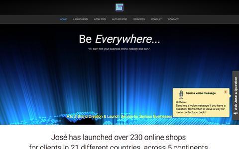 Screenshot of Home Page gotojose.com - SEO Services & Branding for Businesess | goto JOSE - captured Feb. 12, 2016