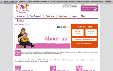 Screenshot of About Page home-start.org.uk - About Home-Start UK - captured Oct. 3, 2014