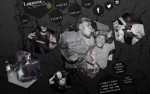 Screenshot of Home Page libertineclublondon.com - + LIBERTINE CLUB LONDON + - captured Oct. 2, 2014