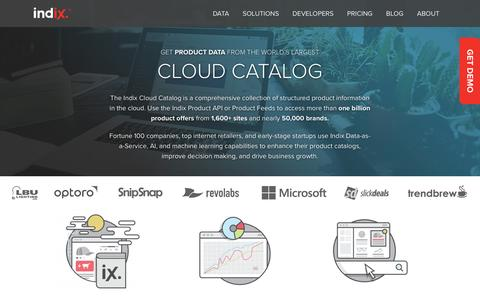 Indix Cloud Catalog: Product Information API and Feeds