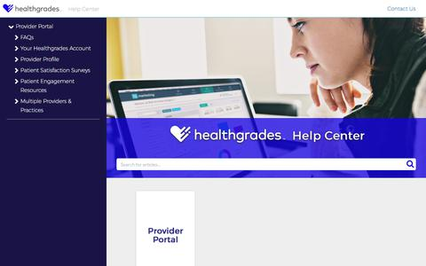 Welcome to the Healthgrades Help Center! | Help Center