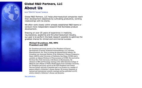 Screenshot of About Page grndpartners.com - About Us - captured Oct. 8, 2014
