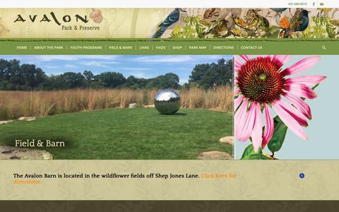 Screenshot of Signup Page avalonparkandpreserve.org - Field and Barn | Avalon Park & Preserve | Stony Brook, NY - captured July 16, 2017
