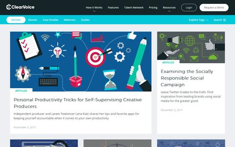 ClearVoice Content Marketing Blog & Resources