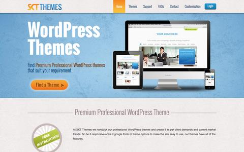 Screenshot of Home Page sktthemes.net - Professional WordPress Themes | SKT Themes - captured Sept. 19, 2014
