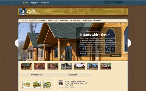 Screenshot of Home Page bkcypress.com - BK Cypress Log Homes | - captured Feb. 7, 2016