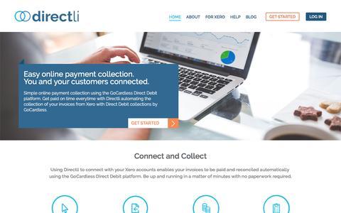 Screenshot of Home Page directli.co.uk - Home - Directli - captured Aug. 2, 2016