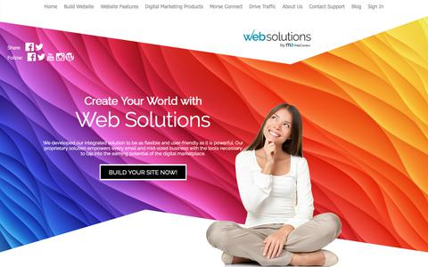 Screenshot of Home Page allyouwantwebs.com - Web Design, Small Business, Builder, Services | AllYouWantWebs - captured Nov. 27, 2018