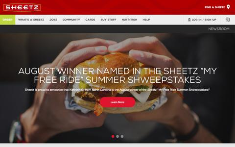 Screenshot of Press Page sheetz.com - Sheetz - captured Nov. 7, 2018