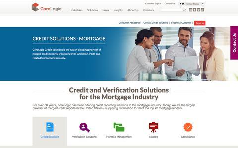 CoreLogic Credit Services Mortgage