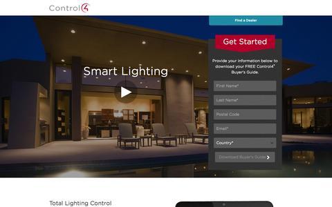 Screenshot of Landing Page control4.com - Lighting | Control4 - captured Oct. 27, 2014