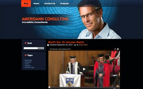 Screenshot of Blog ameridanconsulting.com - Blog Page | AmeriDann Consulting - captured Oct. 29, 2014