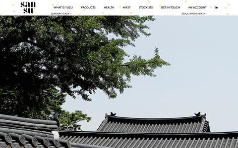Screenshot of Home Page sansudrinks.com - HOME - SANSU - captured Nov. 19, 2016