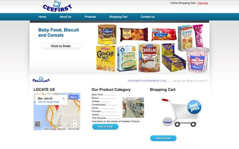 Screenshot of Home Page ceefirst.com - .: Welcome to CeeFirst Enterprises Ltd .: - captured Oct. 2, 2014