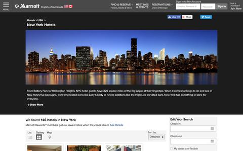 Find New York Hotels by Marriott