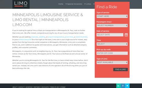 Minneapolis Limousine Service & Limo Rental | Minneapolis Limo.com