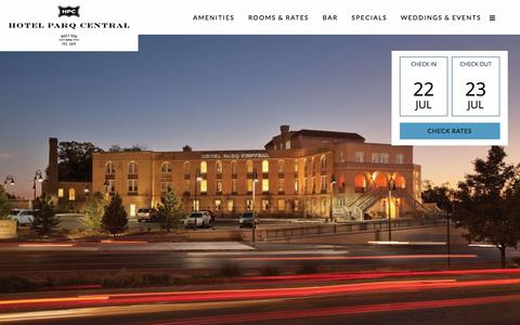 Screenshot of Terms Page hotelparqcentral.com - Terms & Conditions - Hotel Parq Central - captured July 23, 2018