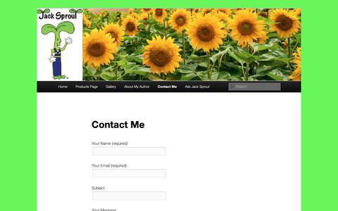 Screenshot of Contact Page jacksprout.com - Contact Me - - captured Nov. 12, 2018