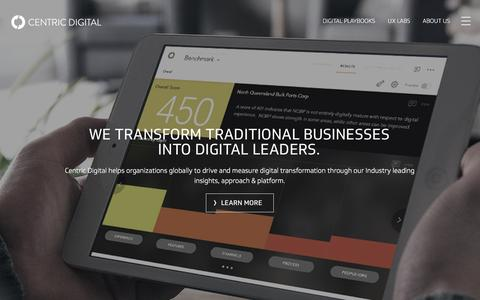 Screenshot of Home Page centricdigital.com - Digital Transformation & Business Strategy Consulting Services | Centric Digital - captured Oct. 1, 2016