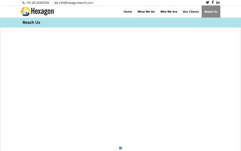 Screenshot of Contact Page hexagonsearch.com - Hexagon   –  Reach Us - captured Nov. 2, 2014