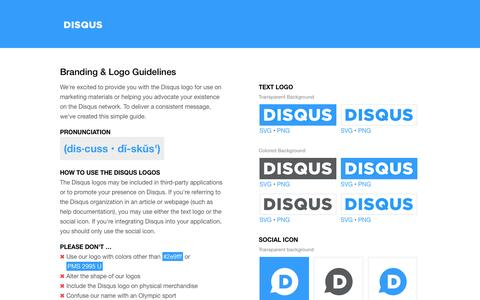 Brand & Logos | Disqus