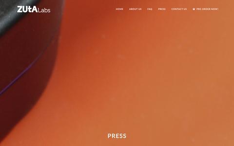 Screenshot of Press Page zutalabs.com - Press Archives | ZUtA Labs - captured Dec. 11, 2015