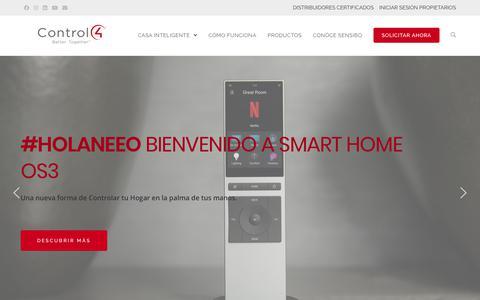 Screenshot of Home Page control4.cl - Control4   Smart Home y Domótica en Chile - captured Nov. 9, 2019