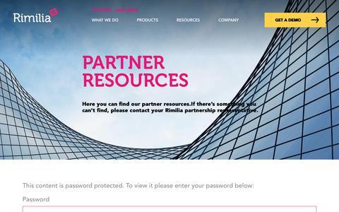 Screenshot of Case Studies Page rimilia.com - Partner Resources | Rimilia - captured Jan. 30, 2020