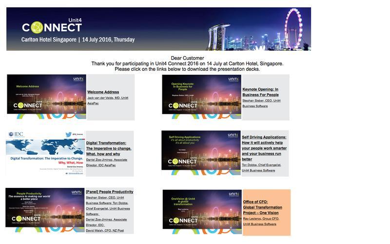 Unit4 Connect 2016 - Presentation Downloads