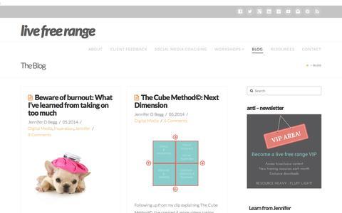 Screenshot of Blog livefreerange.com - Blog - live free range - captured Sept. 30, 2014