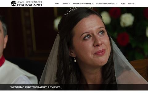 Screenshot of Testimonials Page jeanlucbenazet.com - Great Wedding Photography Reviews for Jean-Luc Benazet - captured Nov. 26, 2016
