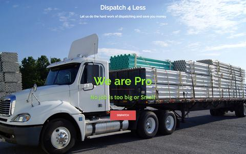 Screenshot of Home Page dispatch4less.com - Dispatch 4 Less, low cost dispatching service. Call for Free estimate - captured Sept. 21, 2018