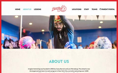 Screenshot of About Page imagineswimming.com - About us - Imagine Swimming - captured Oct. 11, 2018