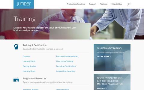 Training – Juniper Networks