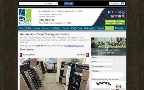 Screenshot of About Page capellinteriors.com - Who We Are - Capell Flooring and Interiors | Capell Flooring and Interiors - captured Oct. 1, 2014