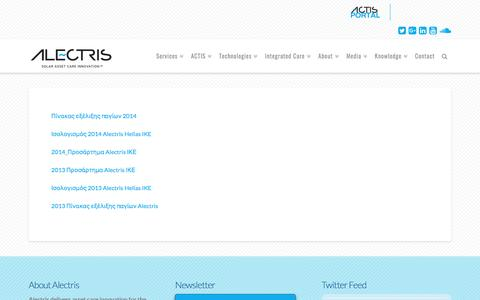 Screenshot of Terms Page alectris.com - Legal   Alectris - captured May 29, 2017