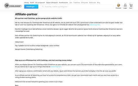 Affiliate-partner - Coolshop