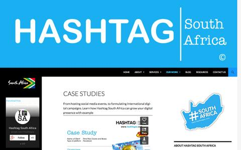 Screenshot of Case Studies Page hashtagsa.com - Case Studies - Hashtag South Africa - captured Oct. 2, 2014