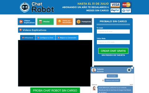 Screenshot of Home Page chat-robot.com - Chat robot - captured Aug. 4, 2016