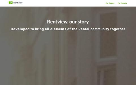 Screenshot of About Page rentview.com - Rentview | Connecting renters, agents and landlords through the lease cycle - captured Oct. 26, 2014