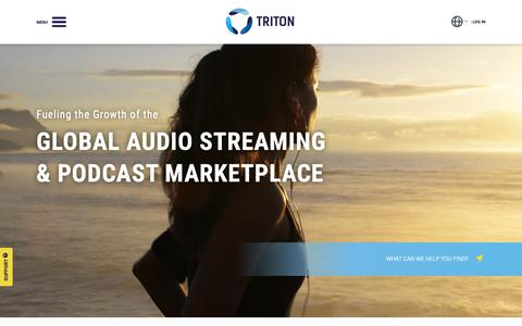 Screenshot of Home Page tritondigital.com - Triton Digital - Home - captured Nov. 16, 2018