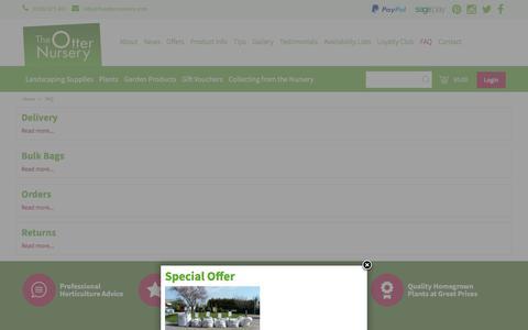 Screenshot of FAQ Page theotternursery.com - FAQ - The Otter Nursery - Ottershaw, Surrey - captured June 15, 2017