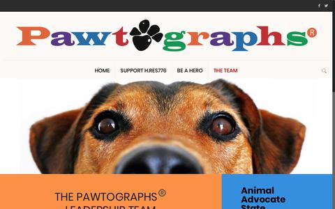 Screenshot of Team Page pawtographs.org - Pawtographs®️ - captured Oct. 26, 2018