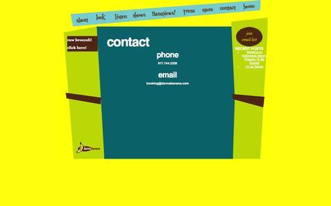 Screenshot of Contact Page dannabanana.com - contact – danna banana - captured Oct. 5, 2014
