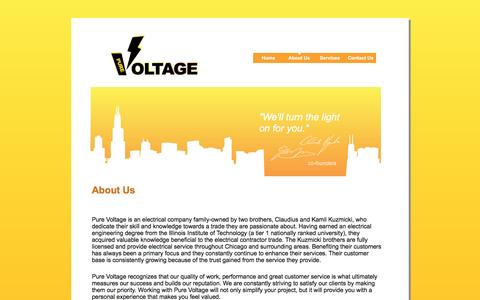Screenshot of About Page pure-voltage.com - Pure-Voltage - About Us - captured Nov. 15, 2016