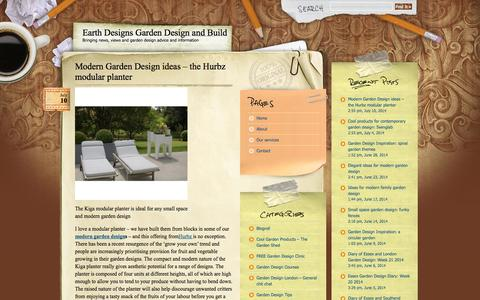 Screenshot of Blog earthdesigns.co.uk - Earth Designs Garden Design and Build  Earth Designs Garden Design and Build » Bringing news, views and garden design advice and information - captured Sept. 27, 2014