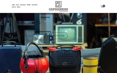 Screenshot of Home Page gepherrini.com - Leather Handbags Gepherrini - captured July 9, 2018