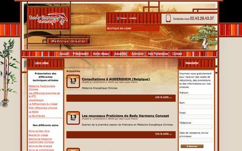 Screenshot of Press Page bodyharmonyconcept.com - BODY HARMONY CONCEPT - captured June 2, 2016