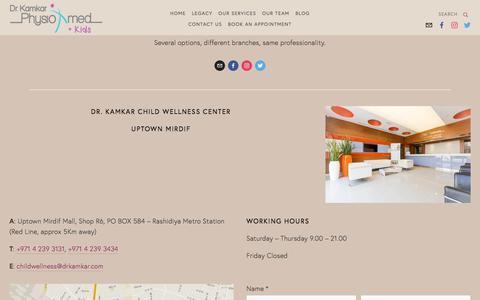 Screenshot of Contact Page drkamkar.com - Contact Us — Dr. Kamkar - captured Oct. 13, 2017