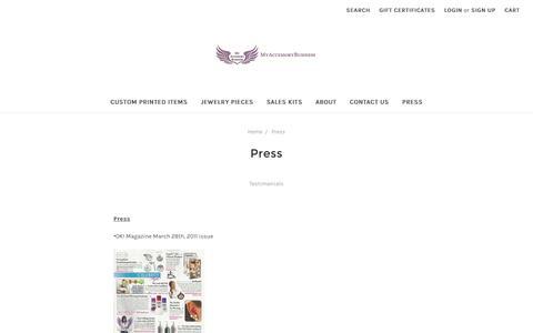 Screenshot of Press Page myaccessorybusiness.com - Press - captured Dec. 6, 2016